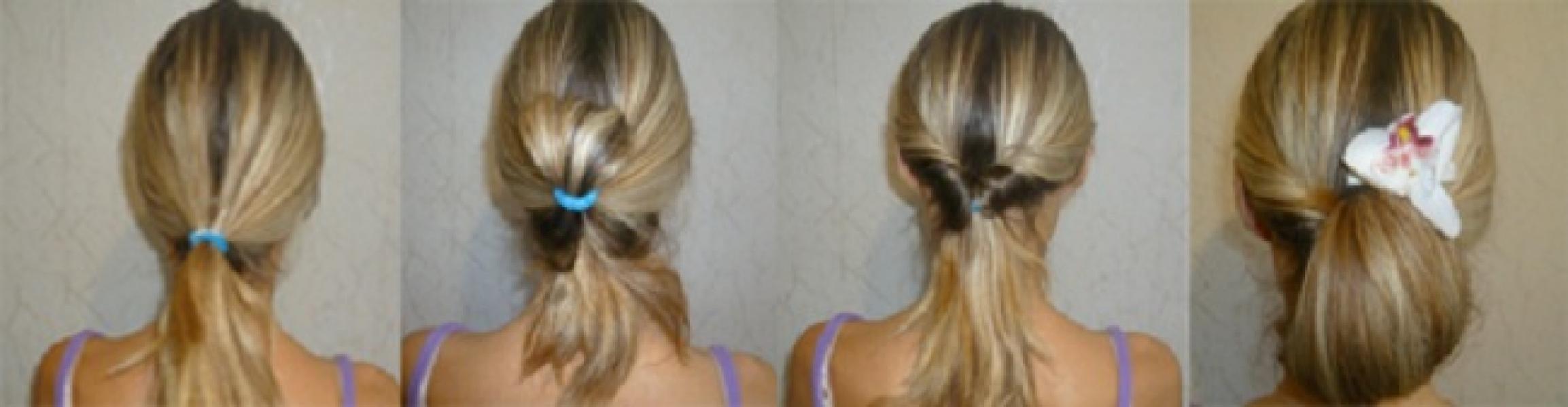 Причёски на средние волосы с крабиком на каждый день