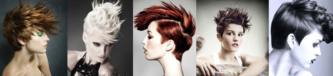 Creative short hairstyle