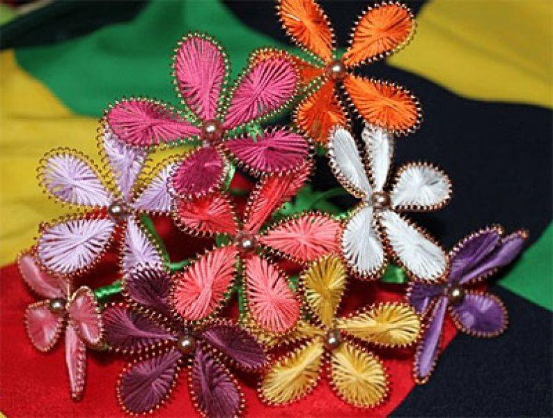 Цветы з проволки фото