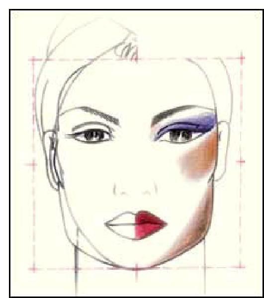 Макияж квадратному овалу лица