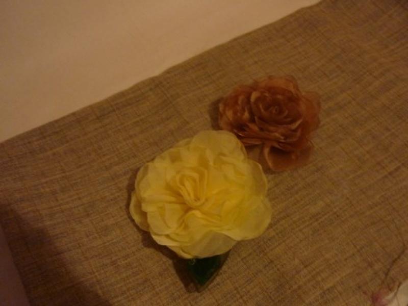 Выкройка цветов из органзы фото